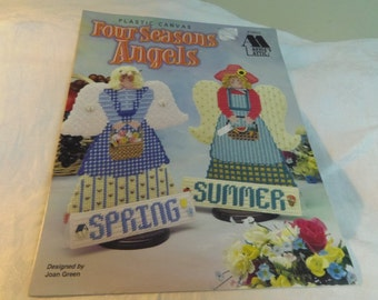 Plastic Canvas Patterns, Four Seasons Angels by Annie's Attic 1997, Home Decor