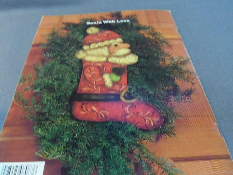 Reindeer Designs for Wood and Tin Jackie Cole 1986 Angels Jolly Santa Santa Decorative Tole Painting NOEL