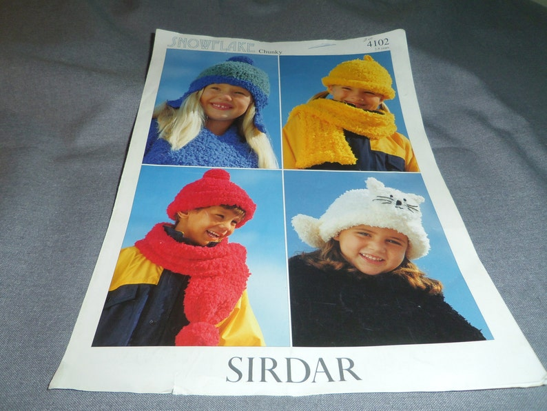 Knitting Patterns Childrens Hats Touques Scarves Kitten Etsy