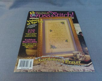 Cross Stitch Magazine No 33, 1996 Back Issue, Gardeners Prayer, Sampler, Golden Daffodils, Little Lambs, Christmas Face Ornaments