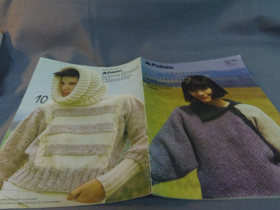 Knitting Patterns Patons Moorland Chucky Yarn Mens And Etsy