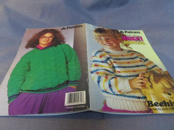 Knitting Patterns Childrens Sweaters Beehive Small Etsy