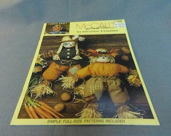 Scarecrow Cousin Dolls, Fabric Craft Patterns, McCall's Creates, 1994 Autumn Decor, Home Decor, Halloween Decor