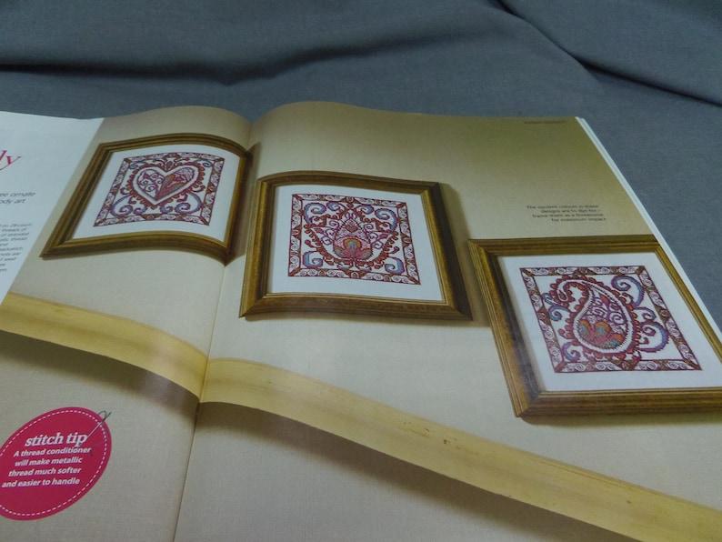 Cross Stitch Gold Magazine Paris by Moonlight Counted Cross Stitch Butterfly Cards Joan Elliott Oct 2013 Flowers