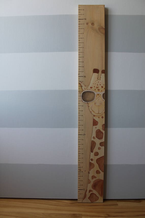 Wooden Giraffe Growth Chart Scale Growth Chart Measures Etsy
