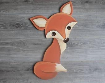 Fox in low relief 3D