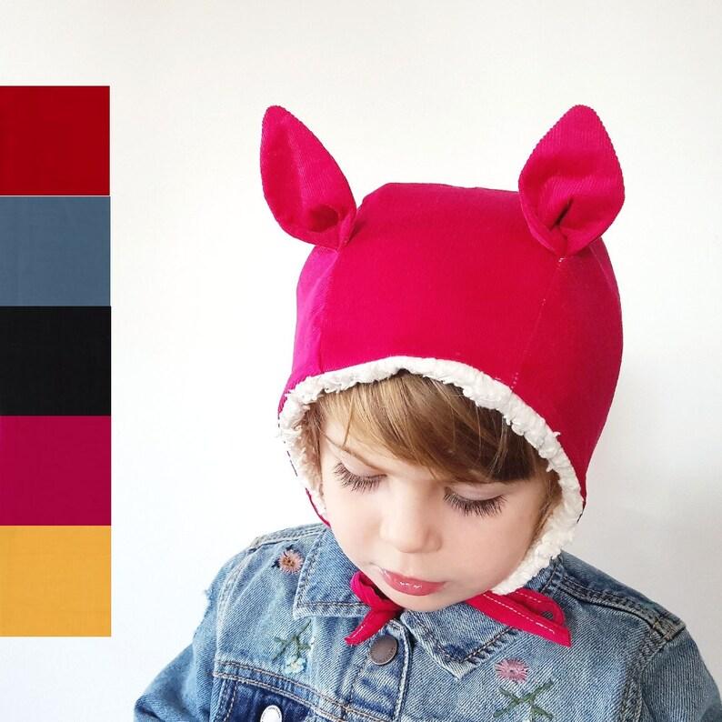284711a4ed0 Chapeau dhiver chat oreilles Bonnet dhiver pour bébé