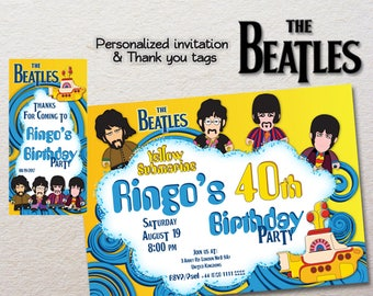 Beatles invitation | Etsy