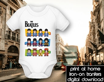 PRINTABLE - Letter size - The Beatles - History - DIY T-Shirt Iron on transfer file – Jpg/Png 300dpi.