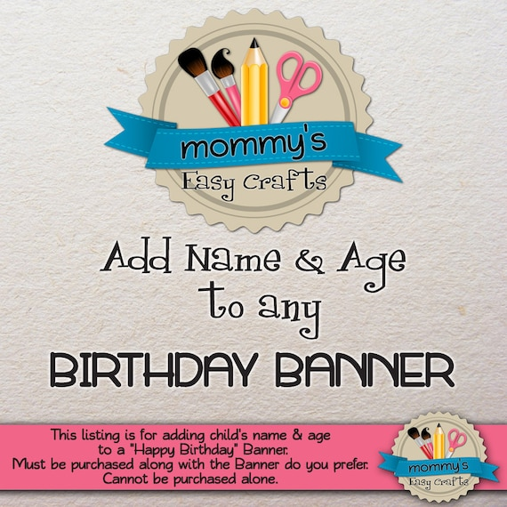 happy birthday banner add name age custom request etsy