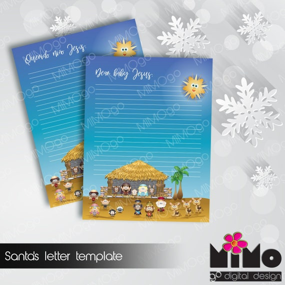 letter to baby jesus template baby jesus letter template etsy
