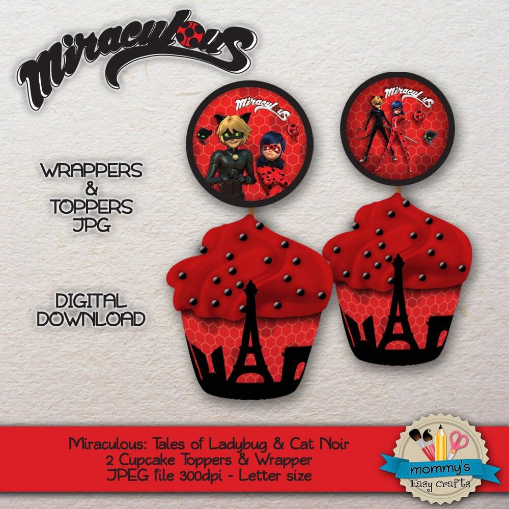 IMPRIMIBLE Miraculous Ladybug Chat Noir Envoltorios y adornos