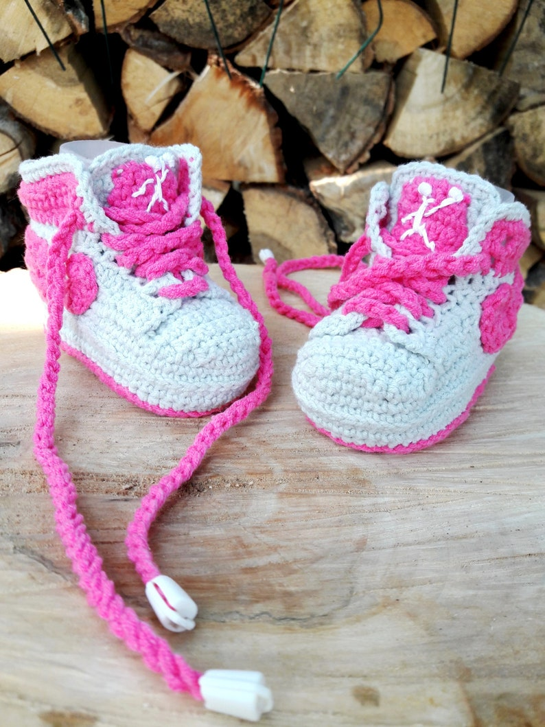 4f946fdf911e1c Crocheted baby booties sneakers Jordan Baby cotton sneakers