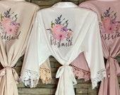 Customization INCLUDED, Bridesmaid Gift, Satin Bridesmaids Robes, Solid Colors Bridesmaid Robe, Bridal Robe, Bridesmaid Proposal, Bride Robe