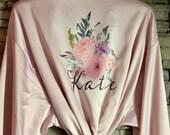 Customized Bridesmaid Robe, Bridesmaid Gifts, Silk Bridesmaids Robes, Bridesmaid Robe, Bridal Robes Set, Bridesmaid Proposal, Bride Robe