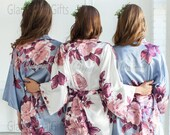 Sale Bridesmaid Robes -Floral Silk Robes -Getting Ready Robes -Bridal Party -Kimono Robes Discount for Multi Orders, Please message us