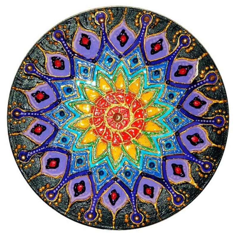 universelles 7 chakren mandala auf leinwand handgemalt für