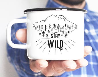 Camping Mug Coffee Mug Enamel Mug Travel Mug inspirational quote Feminist Gift Wanderust Camp Gift For Him Travel Gift Gift For Man Camp Mug