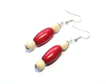 Wooden earrings boho wood earrings chunky boho earrings natural statement earrings ecologic earrings wooden beads jewelry earrings eco-style