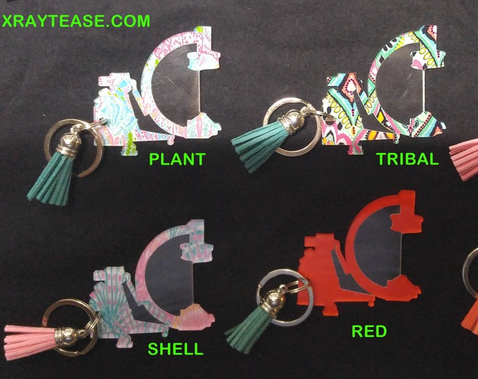 Xray C-Arm Christmas ornament Keychain - Lilly Patterns!