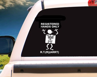 Registered Hands Only Decal