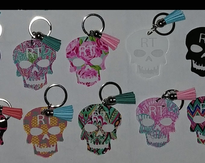 """Xray Keychain or Christmas ornament Skull """"RT"""" - Lilly Patterns!"""