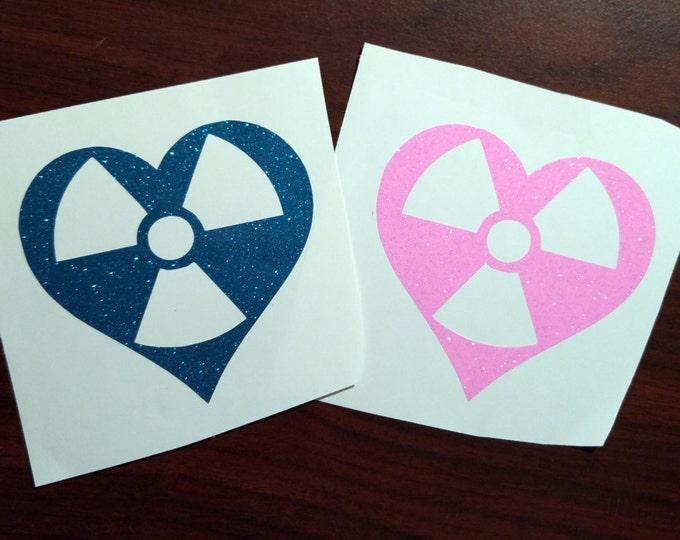 Radiology heart YETI/TUMBLER decal