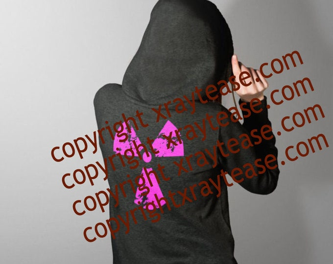 Featured listing image: Pink Distressed Radiation Logo