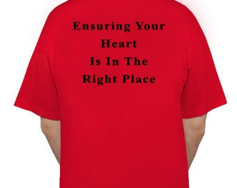 Ensuring your heart is in the right place - black ink