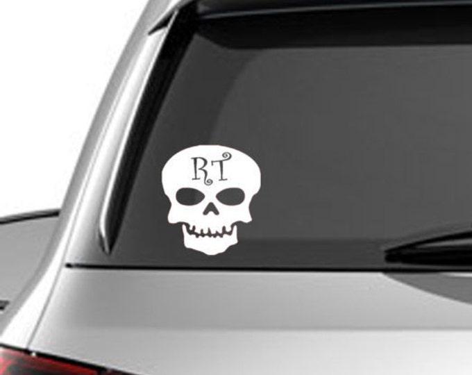 RT Skull - radiology car decal