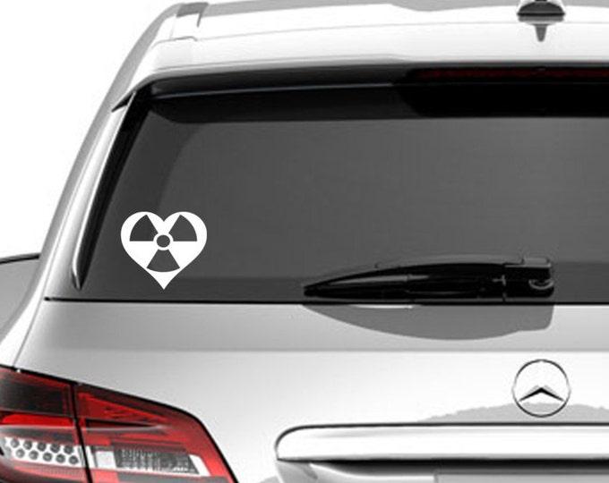 Radiation Heart car decal