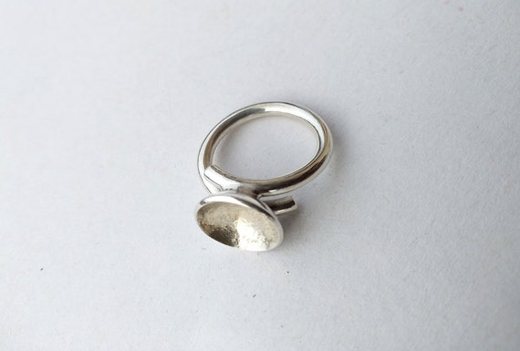 Silver ring , vintage silver ring, handmade silve… - image 9