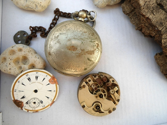 20% OFF! J.Dent London, Vintage pocket watch, anti