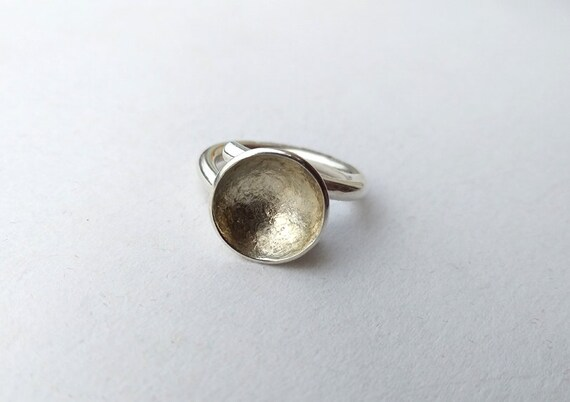 Silver ring , vintage silver ring, handmade silve… - image 5