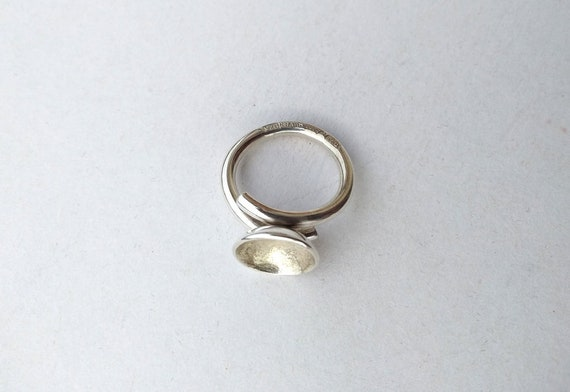 Silver ring , vintage silver ring, handmade silve… - image 6
