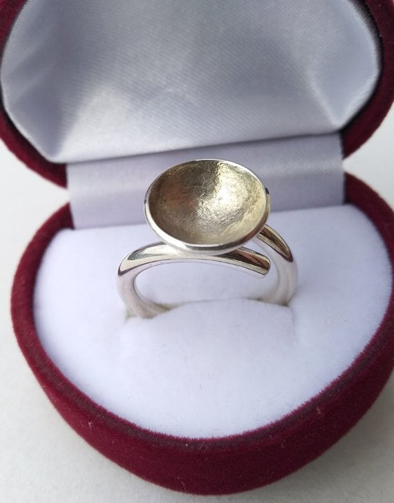 Silver ring , vintage silver ring, handmade silver