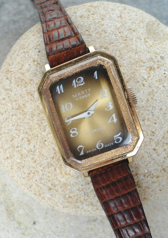 Vintage ladies watch, Ladies watch Marty, Swiss la