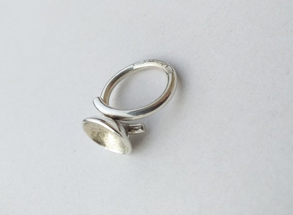 Silver ring , vintage silver ring, handmade silve… - image 8