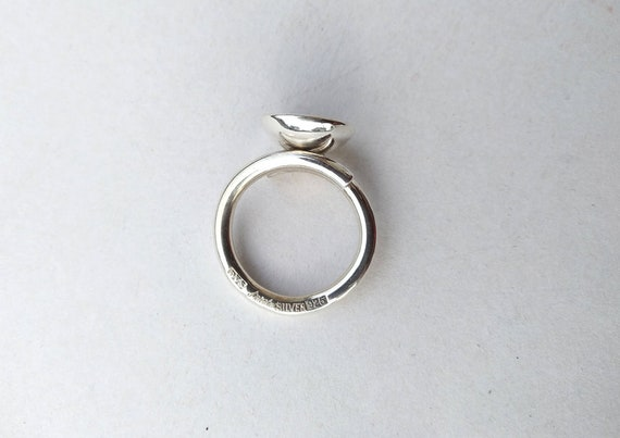 Silver ring , vintage silver ring, handmade silve… - image 7