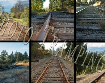 Train Tracks for Photography Backdrops