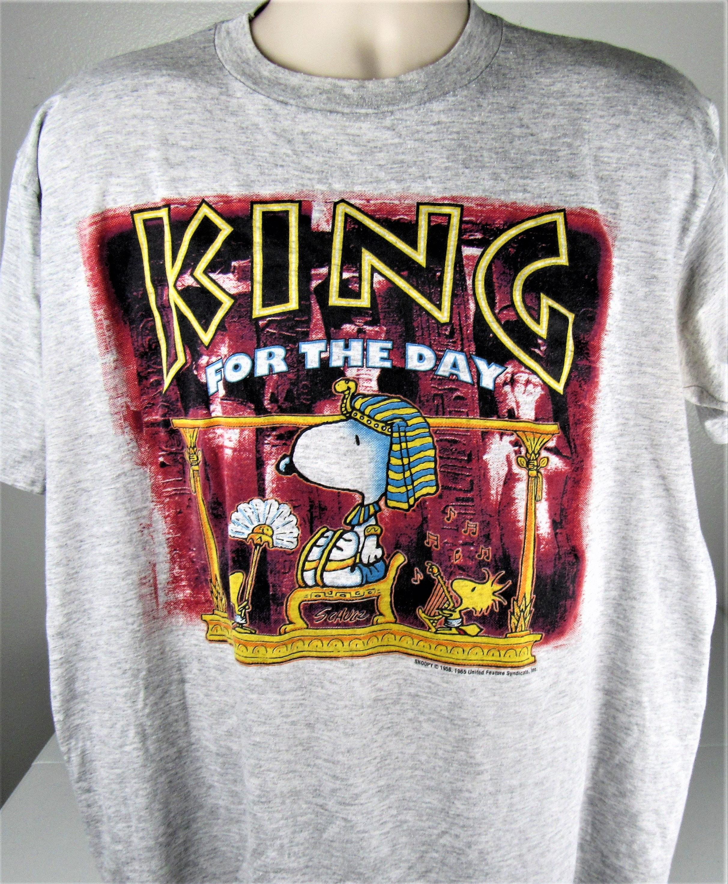 c1946f69 Vintage King Tut Snoopy T-Shirt Size Large Thin 50/50 USA | Etsy