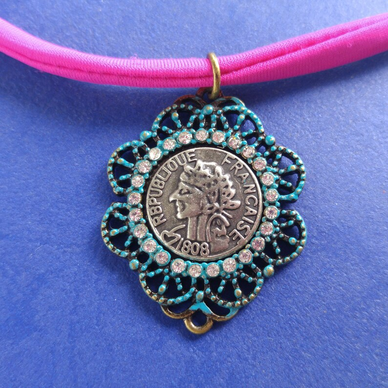 French coin star choker So #unique #French #coin #star #choker