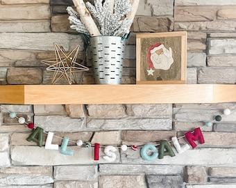 All Is Calm Felt Word Garland - Christmas- Party Decoration - Pom Pom - Free Shipping USA   Felted Word Banner   Felt Decor   Felt Balls