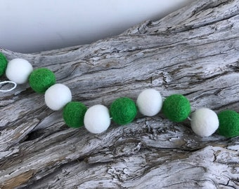 Proper Patty St. Patty's Day - 2cm Felt Ball Garland or Loose Pack - Pom Pom - FREE SHIPPING on 16 USA | Bunting | St Patrick's Garland