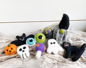 2021 Halloween Medley 10 shapes   Felt Shape   Ghost Skull   Halloween Felt Shapes   Free Shipping USA   Halloween Craft   Bunting   Pumpkin