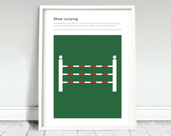 Horse Show Jumping Definition Poster / Show Jumping Print / Horse Riding Poster / Olympics Print / Olympics Poster / Horse Show Jumping