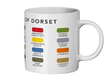 Colours of Dorset Ceramic Mug / Dorset Colours Mug / Dorset Mug / Dorset Gift / Dorset Home / Dorset Holiday / Durdle Door / Bournemouth
