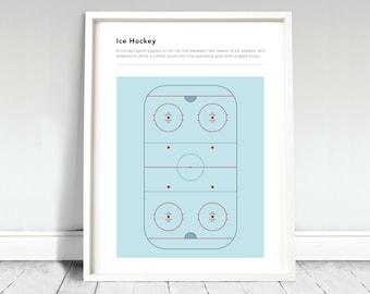 Ice Hockey Definition Poster / Ice Hockey Print / Ice Rink Poster / Ice Hockey Gift / Ice Hockey Fan / Ice Hockey Home / Hockey Home Gift