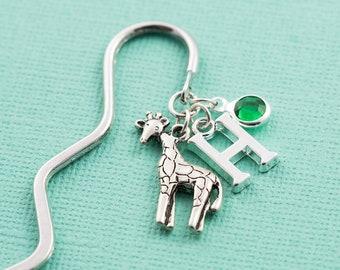 Personalized giraffe bookmark, giraffe gifts, literary gift, personalized gift, travel gift, book lover, animal bookmark, custom bookmark