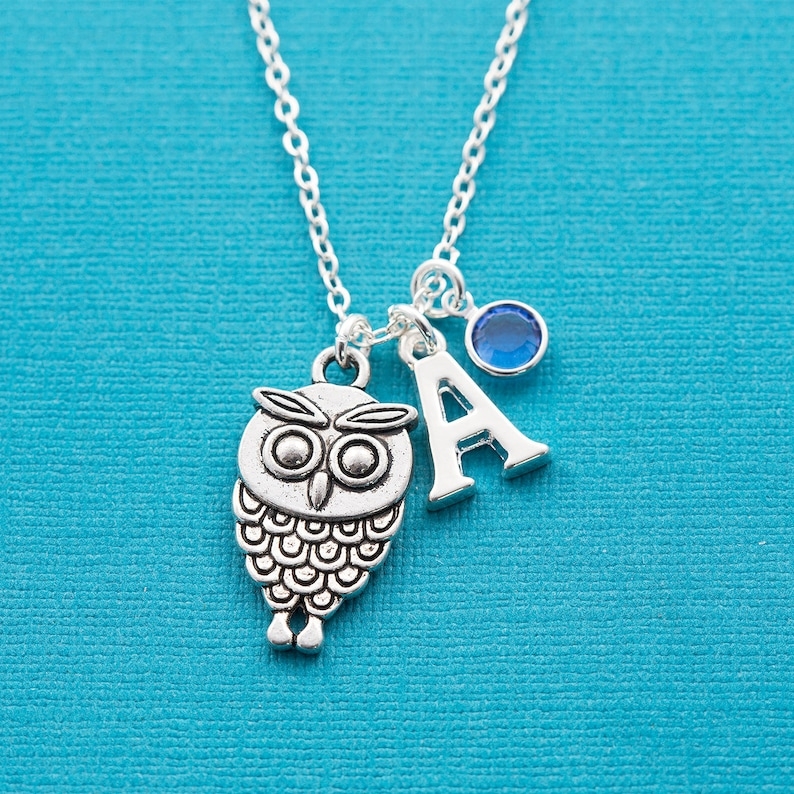 Personalised owl necklace